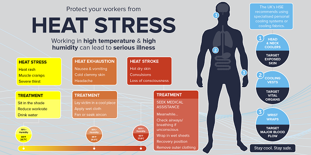Heat stress poster image